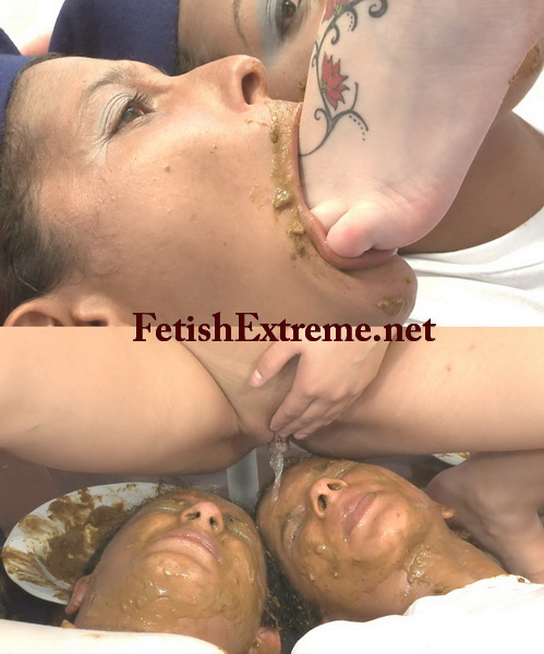 [Extreme Scat-07] Mistress and slave. Mistress shitting in mouth and forced eat shit.