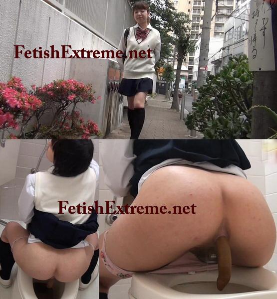 [E74-01] ピーピング女子 おまる座りなウンチたち ジェイド パンチラ(盗撮) Uniform Underwear Skirt (Voyeur) その他女子校生 SchoolGirls Pooping