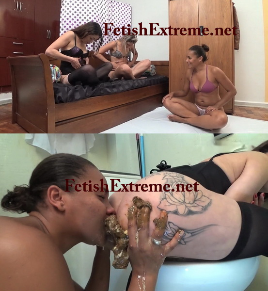 [Extreme Scat-11] Girls coprophagy eating shit and vomit