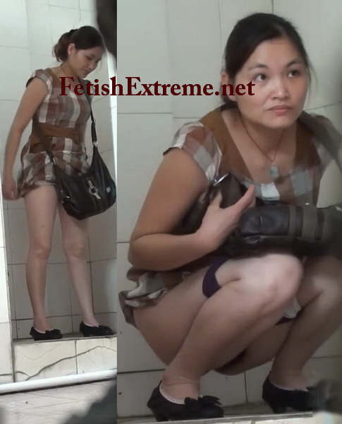 Attractive girls peeing and shitting in the college toilet