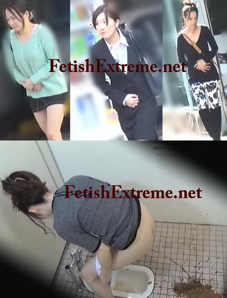 [FP-004] 公衆トイレ盗撮 ぶちまけ!うんこ漏らし大失態 スカトロ Voyeur Girls diarrhea public toilet